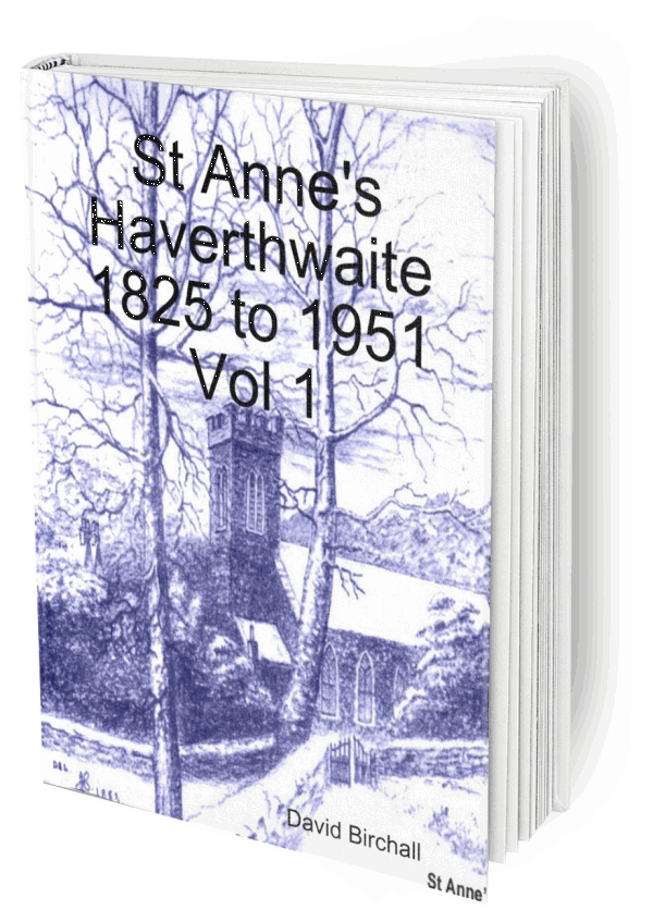 Book, St Anne's Haverthwaite 1825-1951 Vol 1