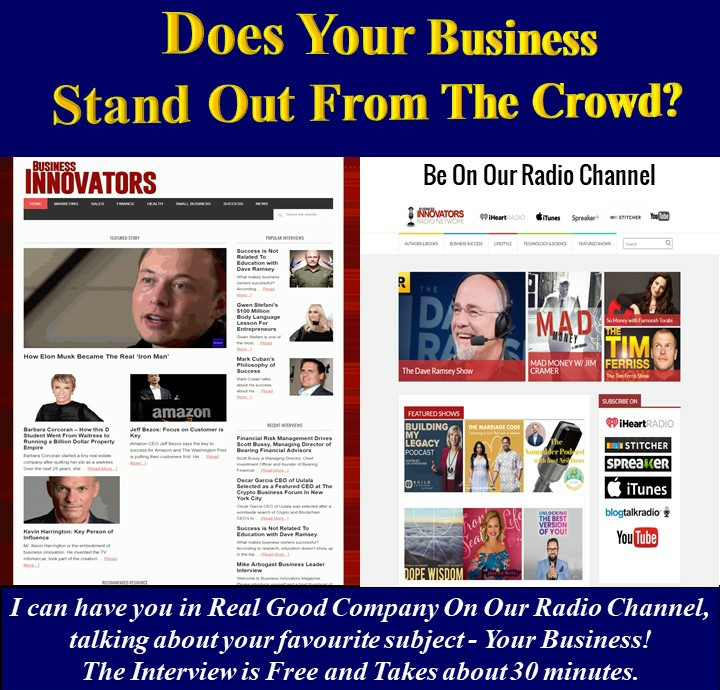 Hand Out Flyer Featuring Business innovators magazine online radio