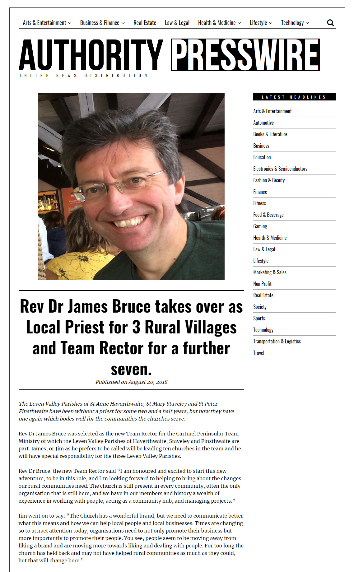 Rev Dr James Bruce